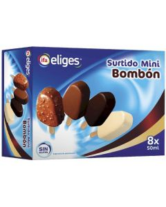 Helado bombón mini ifa eliges pack de 8 unidades de 60ml