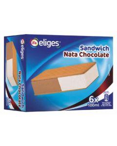 Helado sandwich de nata y chocolate ifa eliges p6x100ml