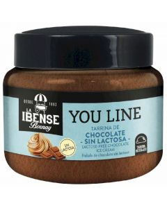 Helado tarrina chocolate ibense p3x80ml
