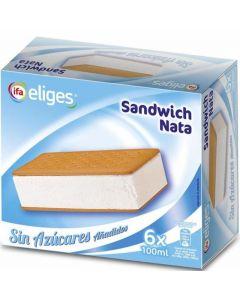 Helado sandwich sin azucar nata ifa eliges