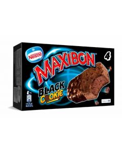 Helado maxibon cookie black nestle p4x150ml