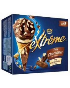 Helado cono 3chocolate extreme p-4 480ml