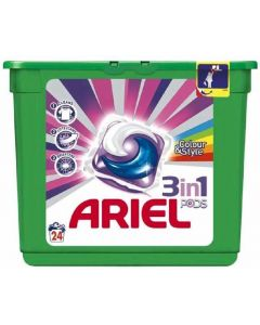 Detergente cápsulas color ariel 24 dosis