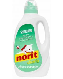 Detergente líquido sensible norit 40 dosis 2,12 litros