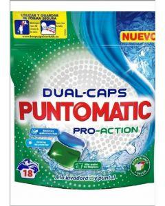 Detergente cápsulas pro-action puntomatic 18 dosis
