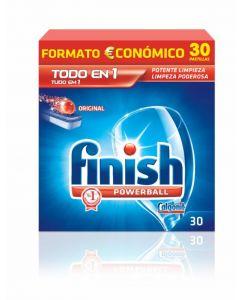 Lavavajillas máquina pastilla limón finish ten1 30 dosis