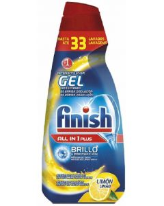 Lavavajillas máquina gel limón finish 660 ml