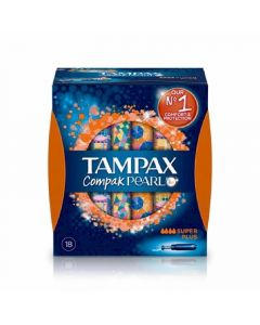 Tampon super compak pearl tampax 18ud