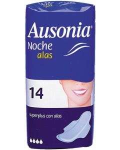 Compresas noche plus ausonia pack de 10 unidades