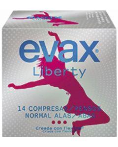 Compresas con alas normal evax liberty pack de 12 unidades