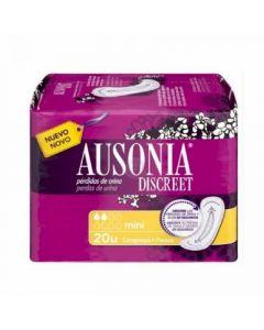 Compresas para incontinencia mini ausonia discreet pack de 20 unidades