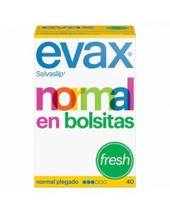 Salvaslip normal plegado fresh evax pack de 40 unidades