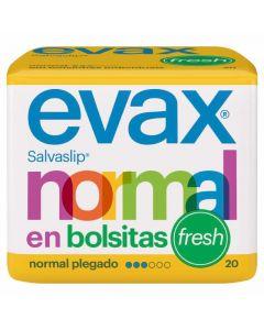 Protegeslip normal plegado fresh evax pack de 20 unidades