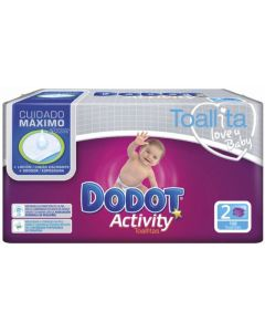 Toallitas dodot activity pack de 108 unidades