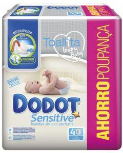 Dodot sensitive toallitas recambio 216ud