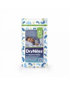 Pañal braga para niño 4-7 años dry nites huggies convenience pack de 10 unidades