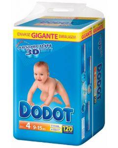 Pañal t4 9-15kg dodot box 120 ud