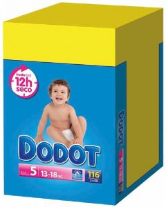 Pañal t5 13-18kg dodot box 112 ud