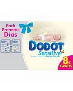 Pañal para recien nacido talla 1 2-5kg dodot sensitive pack de 28 unidades