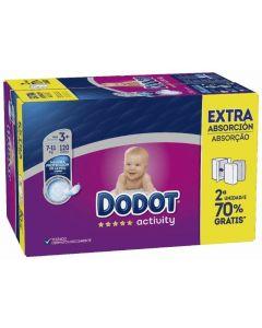 Pañal activity extra dodot box t3 120ud