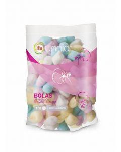 Bolas de algodón desmaquillantes ifa unnia pack de 100 unidades