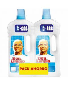 Limpiador para baño don limpio pack de 2 unidades de 1,5l