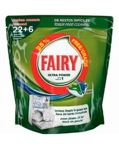 Lavavajillas a máquina en pastillas fairy todo en 1 22+4 dosis