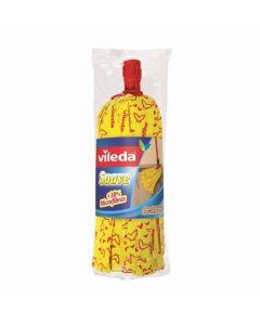 Fregona suave 30% microfribras tiras amarillas gran absorción vileda 1 ud