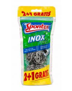 Estropajo inox reciclado spontex 2+1 ud