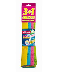 Bayeta multicolor vileda 3+1 ud