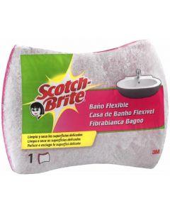 Estropajo para baño fibra con esponja scoth brite 1 ud
