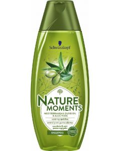 Champú con aceite de oliva y aloe vera nature moments 400ml