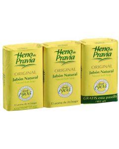 Jabón para tocador heno de pravia pack de 3 unidades de 115g