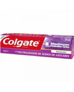 Pasta de dientes máximum protection caries menta fresca colgate 75ml