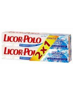 Pasta dentífrica blanco polar en tubo licor del polo pack 2 x 75 ml