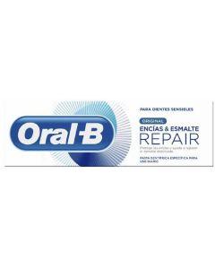 Pasta dentífrica encías y esmalte repair original 75ml oral-b