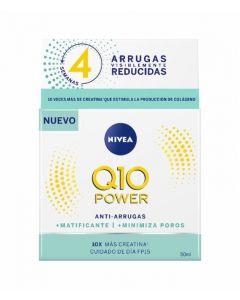 Crema antiarrugas de día para piel mixta q 10 plus nivea 50ml