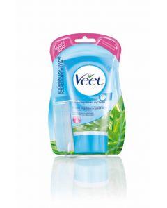 Crema depilatoria ducha para piel sensible veet 150 ml