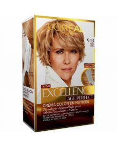 Coloración rubio camel 9.13 excellence age perfect loréal