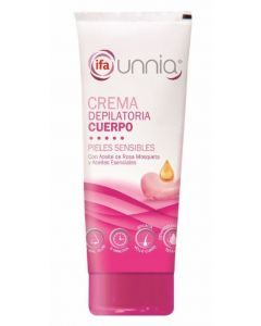 Crema depilatoria con paleta para piel sensible ifa unnia