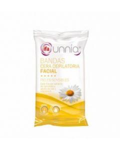 Bandas de cera depilatoria faciales ifa unnia pack de 6 unidades +2 toallitas