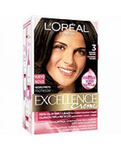 Coloración castaño oscuro 3 excellence loréal