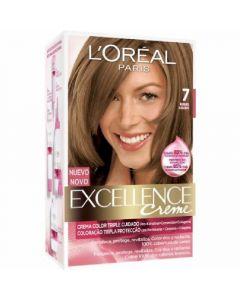Coloración rubio natural 7 excellence loréal