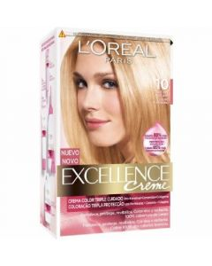 Coloración rubio clarísimo 10 excellence loréal