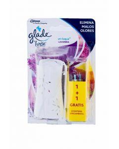Ambientador un toque lavanda glade aparato + recambio 10 ml