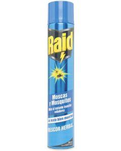 Insecticida matamoscas raid aerosol 600ml