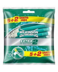 Maquinilla de afeitar wilkinson extra 2 sensitive 5+2 ud
