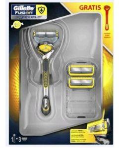 Pack maquinilla de afeitar + 2 recambios fushion proshield gillette