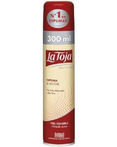Espuma de afeitar piel sensible la toja 300 ml