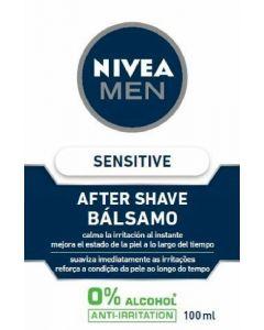 Bálsamo after shave sensitive para piel sensible nivea men 100ml